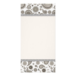 Creative Grey Damask special gift Photo Cards