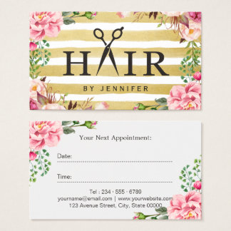 Creative Hair Scissor Typography Salon Appointment Business Card