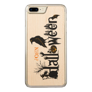 Creative Halloween Concept Design Illustration Carved iPhone 7 Plus Case