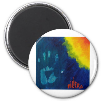 Creative Hand by Piliero 2 Inch Round Magnet