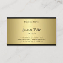 Creative Hand Font Script Sleek Glamour Gold Look Business Card