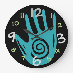 Creative Hand Wall Clock For Art/Craft Room