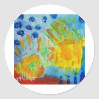 Creative Hands Piliero Classic Round Sticker