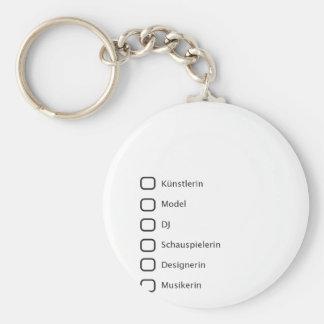 Creative Hipster Basic Round Button Keychain