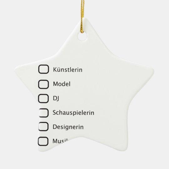 Creative Hipster Ceramic Ornament