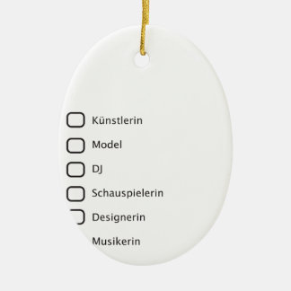 Creative Hipster Double-Sided Oval Ceramic Christmas Ornament