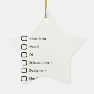 Creative Hipster Double-Sided Star Ceramic Christmas Ornament