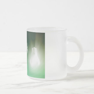 Creative Innovation and Glowing Concept as a Art Frosted Glass Coffee Mug