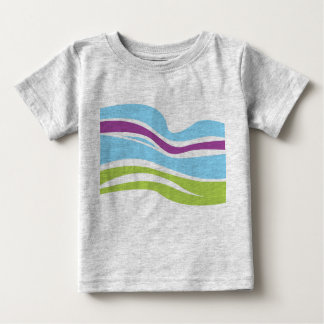 Creative KIDS T-SHIRT WITH Magic Stripes GREY