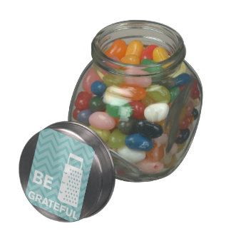 Creative Kitchens - Grater on chevron. Jelly Belly Candy Jar