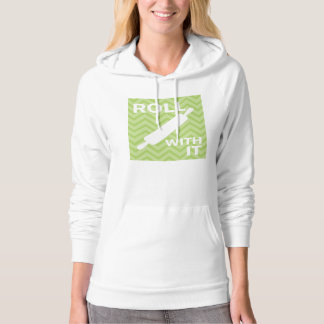 Creative Kitchens - Rolling pin on chevron. Hoodie