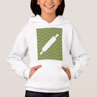 Creative-Kitchens - Rolling pin on chevron Hoodie