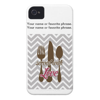 Creative Kitchens - Utensils on chevron. iPhone 4 Cases