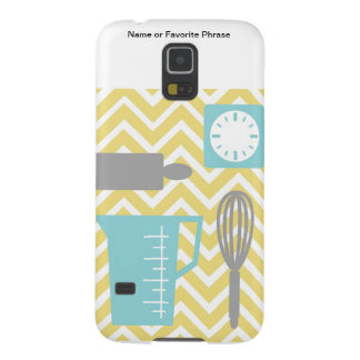Creative Kitchens - Utensils on chevron Cases For Galaxy S5