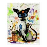 Creative Kitty Cat Postcard