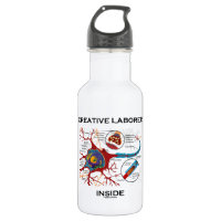 Creative Laborer Inside (Neuron / Synapse) 18oz Water Bottle