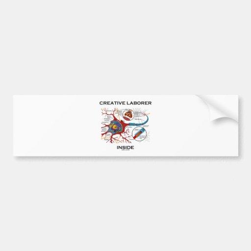 Creative Laborer Inside (Neuron / Synapse) Car Bumper Sticker