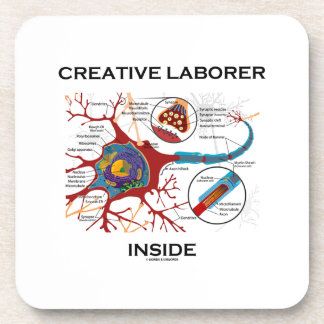 Creative Laborer Inside (Neuron / Synapse) Beverage Coasters