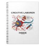 Creative Laborer Inside (Neuron / Synapse) Spiral Note Book