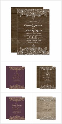 Creative Lace Invitations