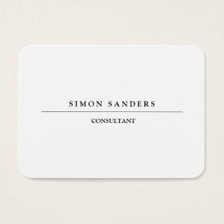 Creative Large Plain Unique Minimalist Black White Business Card