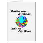 Creative Left Hand Greeting Cards