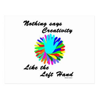 Creative Left Hand Postcard