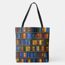 Creative Library Books Design Tote Bag