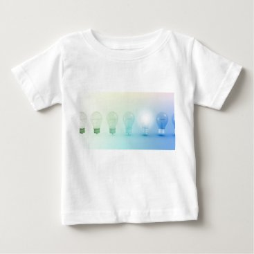 Professional Business Creative Light Bulb Idea Abstract Infographic Baby T-Shirt