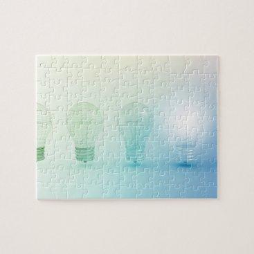 Creative Light Bulb Idea Abstract Infographic Jigsaw Puzzle