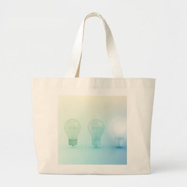 Professional Business Creative Light Bulb Idea Abstract Infographic Large Tote Bag