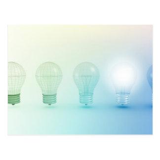 Creative Light Bulb Idea Abstract Infographic Postcard