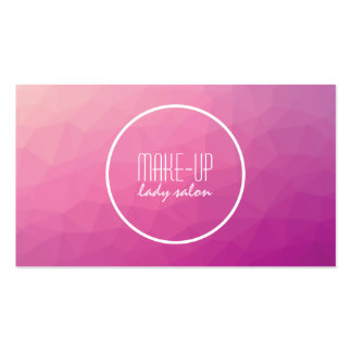 Creative make-up artist business card