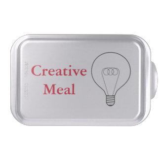 Creative Meal Backform texto rojo Molde Para Pasteles