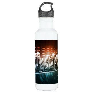 Creative Media and Digital Content Network as Art Stainless Steel Water Bottle