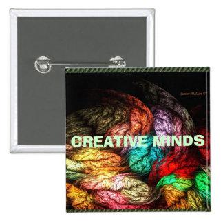 CREATIVE MINDS 2 INCH SQUARE BUTTON