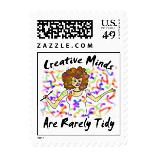 Creative Minds Are Rarely Tidy Stamp