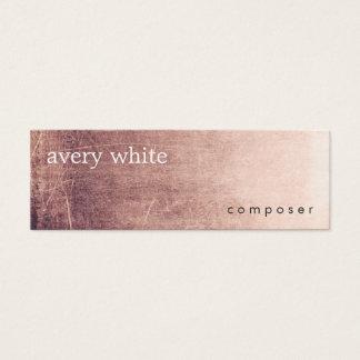 Creative Minimalist Aged Texture Look Mini Business Card
