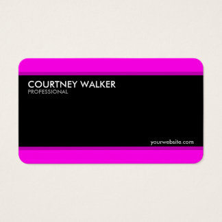 Creative, modern black and magenta business cards