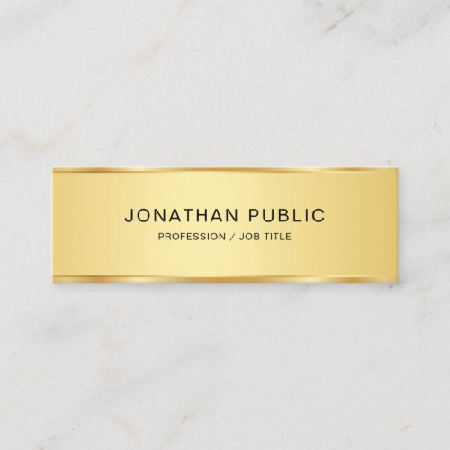 Creative Modern Elegant Gold Look Simple Template Mini Business Card