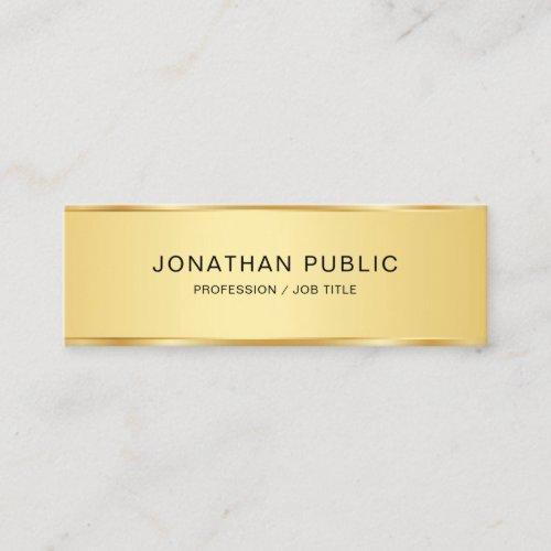 Creative Modern Elegant Gold Look Simple Template Mini Business Card