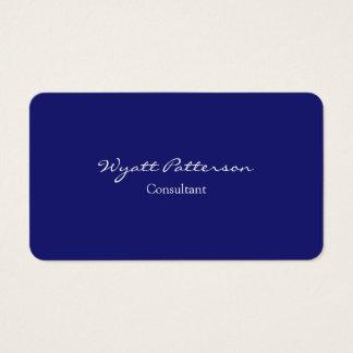 Creative Modern Midnight Blue Plain Unique Business Card