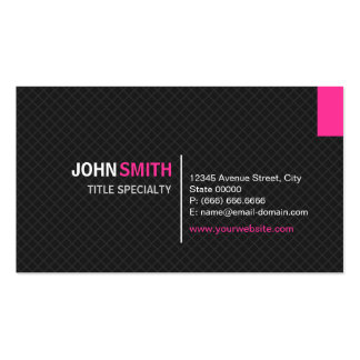 Creative Modern Twill Grid - Black and Pink Business Card