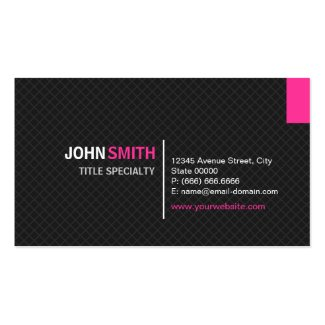Creative Modern Twill Grid - Black and Pink Business Card Template