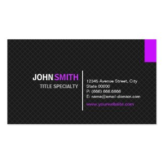 Creative Modern Twill Grid - Black and Purple Business Card Template