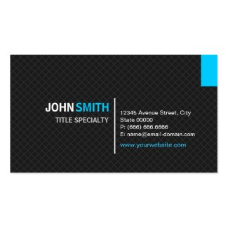Creative Modern Twill Grid - Black and Sky Blue Business Cards