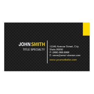 Creative Modern Twill Grid - Black and Yellow Business Cards