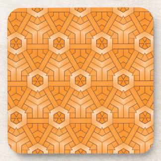creative monday,orange beverage coaster