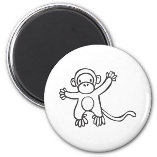 Creative Monkey in Sketch Drawing 2 Inch Round Magnet