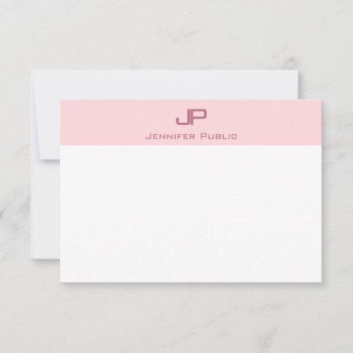 Creative Monogram Blush Pink Minimalist Template
